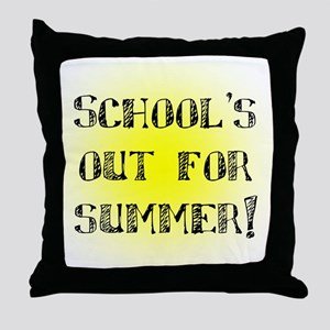 School's Out for Summer Throw Pillow