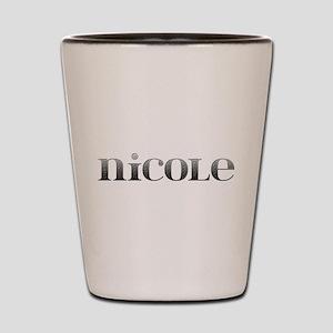 Nicole Carved Metal Shot Glass