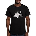 All Three Men's Fitted T-Shirt (dark)