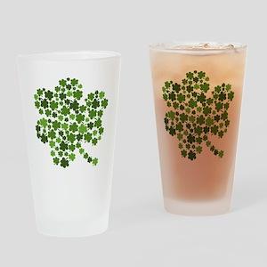 Shamrocks in a Shamrock Drinking Glass
