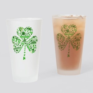 St Paddys Day Shamrock Drinking Glass