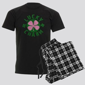 Green / Pink Lucky Charm Men's Dark Pajamas