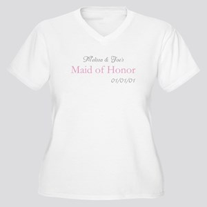 Custom Maid of Honor Women's Plus Size V-Neck T-Sh