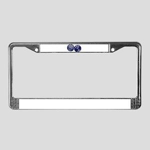 Boule petanque License Plate Frame