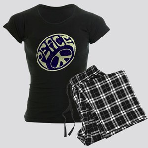 Vintage Peace Symbol #V9 Women's Dark Pajamas