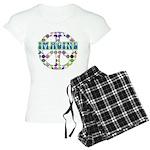 Retro Peace Sign Imagine Women's Light Pajamas