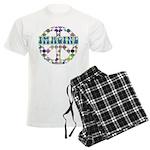 Retro Peace Sign Imagine Men's Light Pajamas