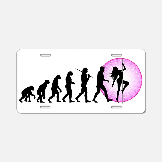 Pole Dancing Aluminum License Plate