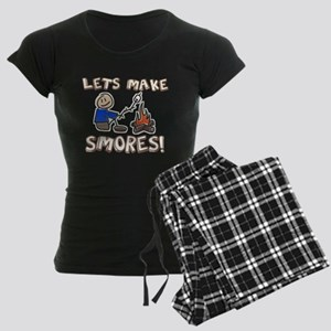 Lets Make SMORES! Women's Dark Pajamas