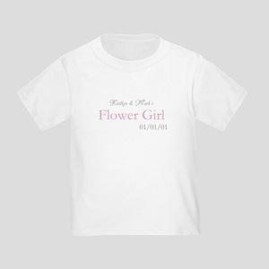 Custom Flower Girl Toddler T-Shirt
