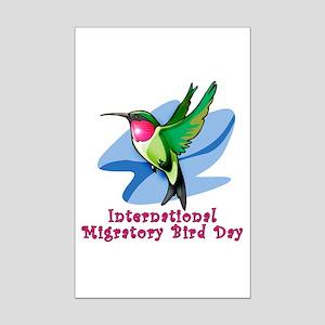 Hummingbird Migratory Bird Day Mini Poster Print