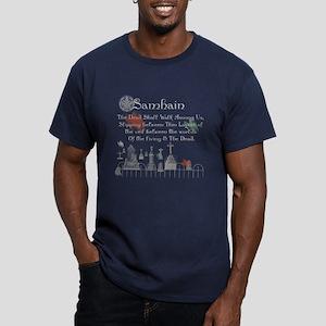 Samhain Halloween Men's Fitted T-Shirt (dark)