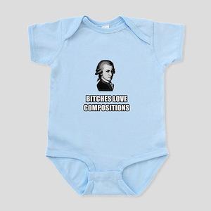 Bitches love compositions Infant Bodysuit