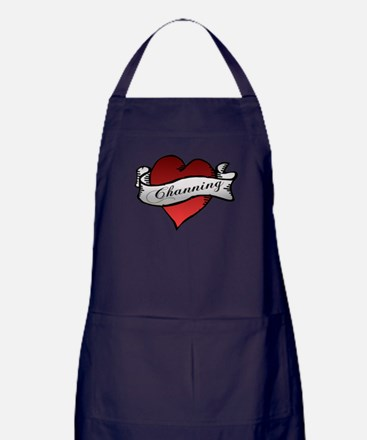 Channing Tattoo Heart Apron (dark)
