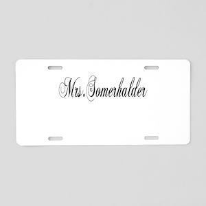 Mrs. Somerhalder Aluminum License Plate