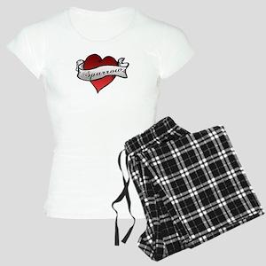 Sparrow Tattoo Heart Women's Light Pajamas
