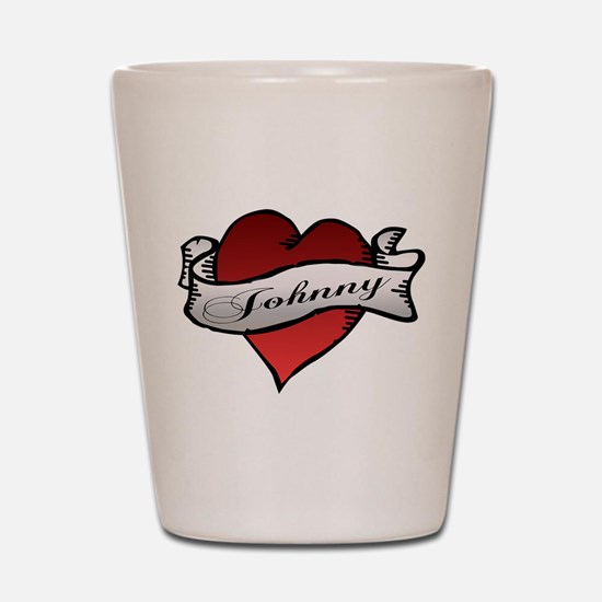 Johnny Tattoo Heart Shot Glass