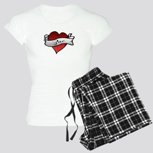 Zac Heart Tattoo Women's Light Pajamas