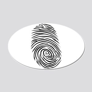 Fingerprint Smudge Dirt 22x14 Oval Wall Peel