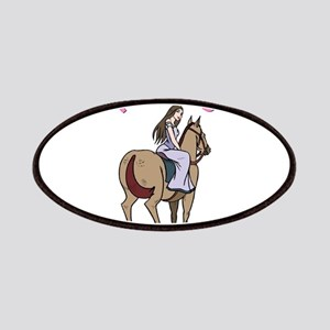 Brunette Princess and Pony Patches