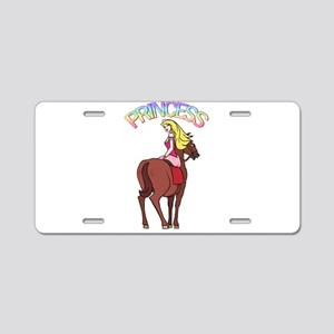 Blonde Princess and Pony Aluminum License Plate