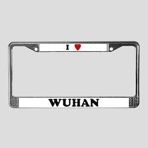 I Love Wuhan License Plate Frame
