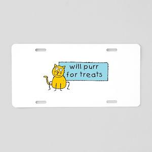 Cute Cartoon Cat Aluminum License Plate