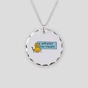 Cute Cartoon Cat Necklace Circle Charm