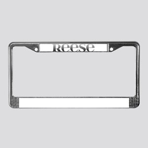 Reese Carved Metal License Plate Frame
