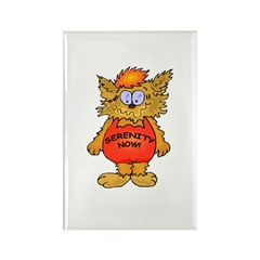 Serenity Now Stressed Out Cat Rectangle Magnet (10