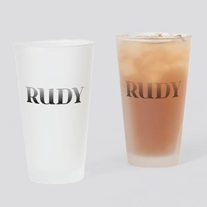 Rudy Carved Metal Drinking Glass