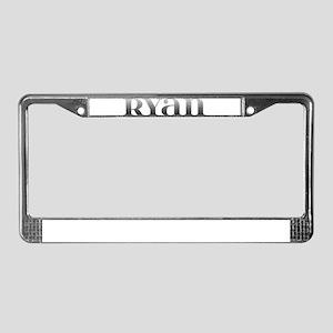 Ryan Carved Metal License Plate Frame