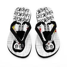 Broken Goth Doll Flip Flops