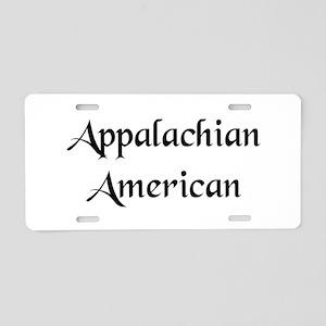 Appalachian American Aluminum License Plate