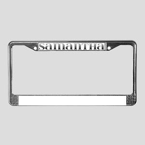 Samantha Carved Metal License Plate Frame