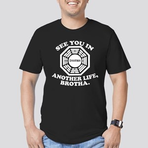 Classic LOST Quote Men's Fitted T-Shirt (dark)