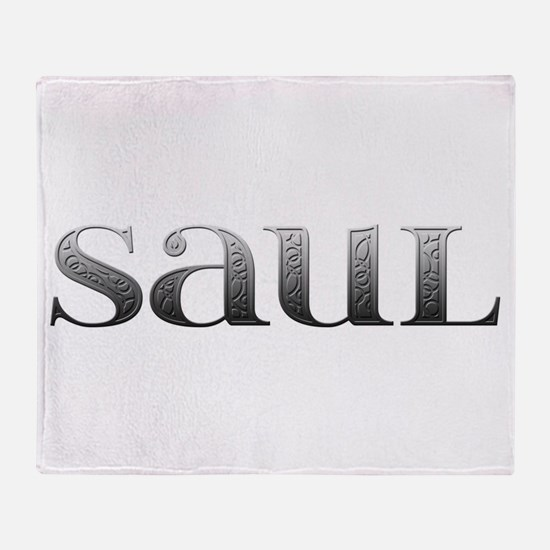 Saul Carved Metal Throw Blanket