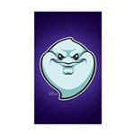 The Ghost Sticker (Rectangle 10 pk)
