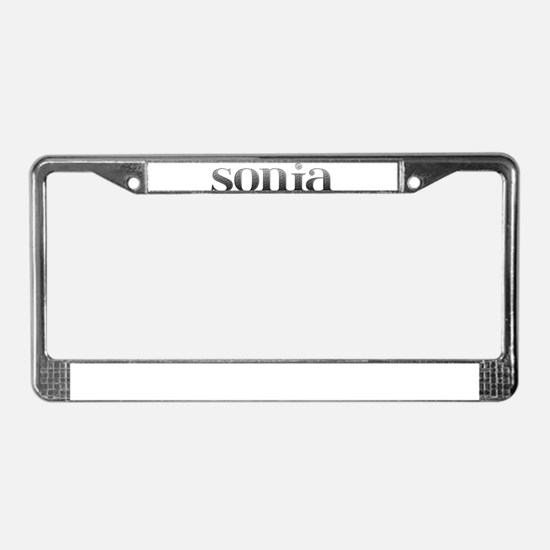 Sonia Carved Metal License Plate Frame