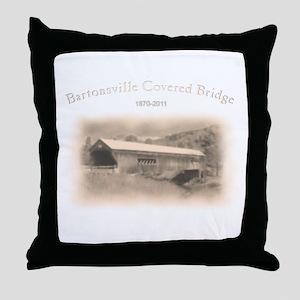 Bartonsville Covered Bridge Throw Pillow