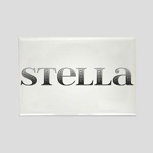 Stella Carved Metal Rectangle Magnet