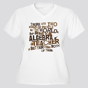 Algebra Teacher (Funny) Gift Women's Plus Size V-N