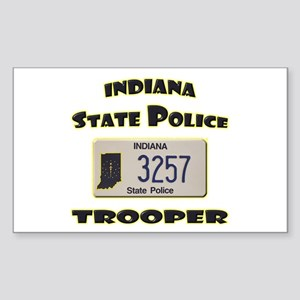 Indiana State Police Sticker (Rectangle)