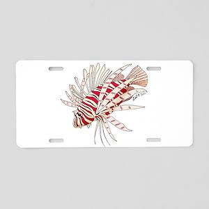 Lionfish Aluminum License Plate