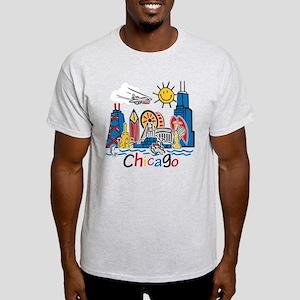 Chicago Cute Kids Skyline Light T-Shirt