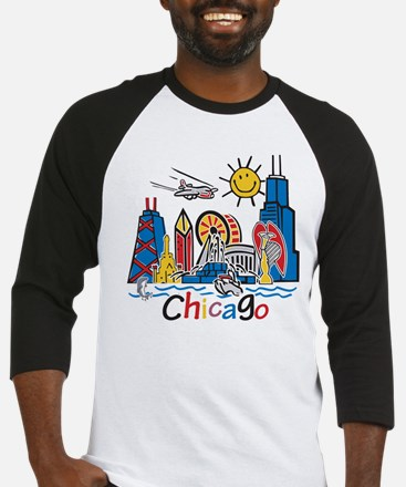 Chicago Cute Kids Skyline Baseball Jersey