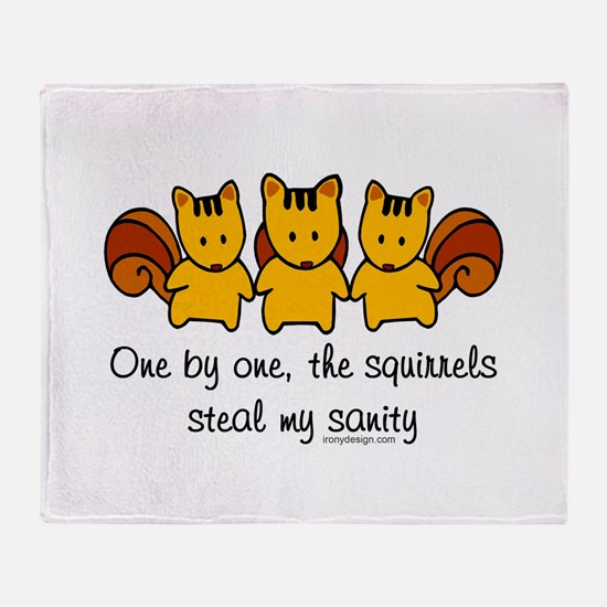 One by one, the squirrels Throw Blanket