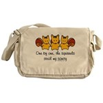 One by one, the squirrels Messenger Bag