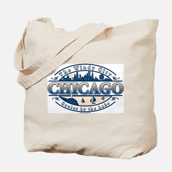 Chicago Oval Tote Bag