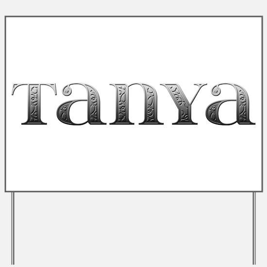 Tanya Carved Metal Yard Sign